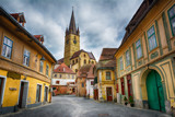 Cityscape of historical center of Sibiu town