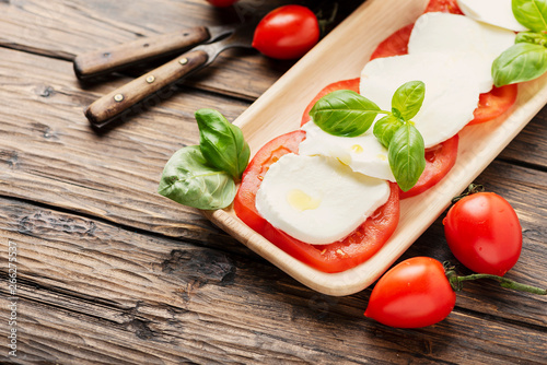 Photo  Traditional Italian dish caprese