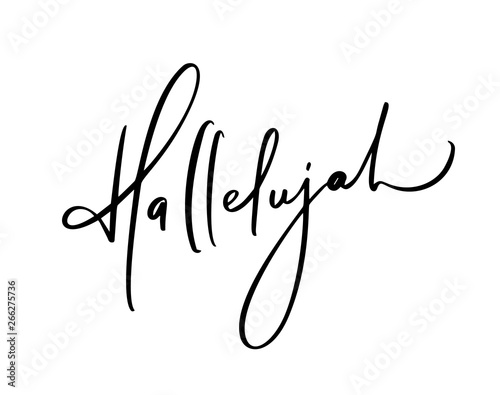 Photo Hallelujah vector calligraphy Bible text