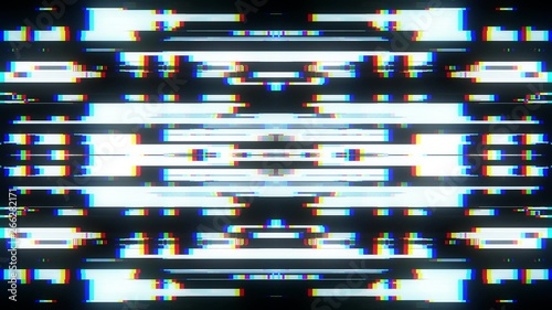 Papel de parede symmetrical shiny shape glitch interference screen illustration background new q