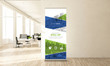 canvas print picture - awesome design roll up banner in minimal office