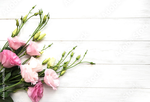 Poster de jardin Nature Fresh pink eustoma flowers