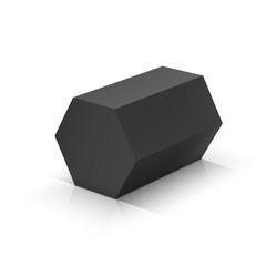 Black hexagonal prism