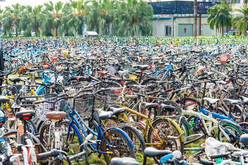 中国のレンタル自転車 Canvas Print