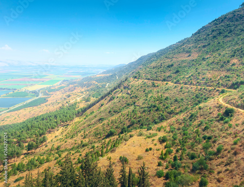 Panoramic view from a mountains in Israel.