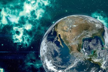 Picture of planet Earth in ...