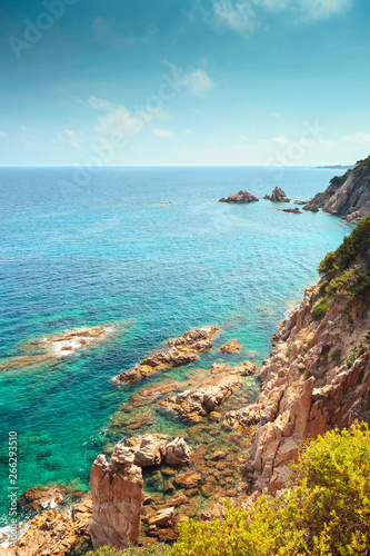 Poster de jardin Inde Beautiful seascape of mediterranean sea.