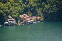 Caprino Village At The Lake Of Lugano, Ticino, Switzerland