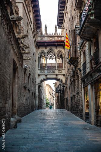 Photo  Barri Gotic Quarter Barcelona