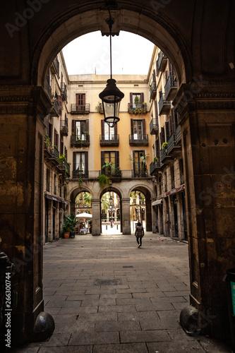 Barri Gotic Quarter Barcelona Canvas Print