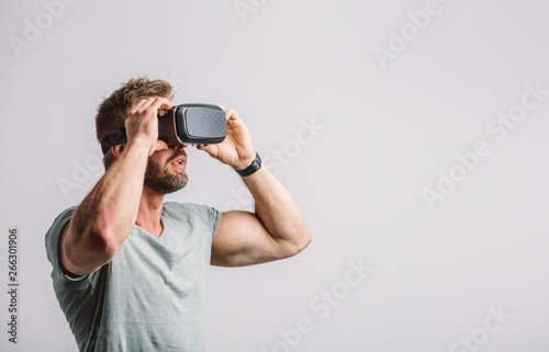 Man enjoying vr headset