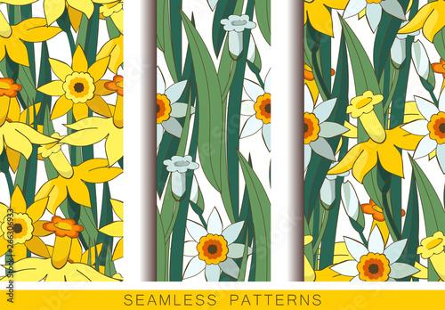 Fotografía Set of vector seamless patterns