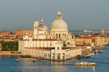 Punta Della Dogana Und Basilica Di Santa Maria Della Salute, Venedig, Venetien, Italien