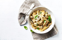 Penne Pasta With Mushrooms, Ch...