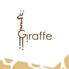 Giraffe Logo Design Template. Letter G Giraffe Initial Logo Design.