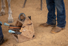 Farrier Tools For Shoeing A Horse