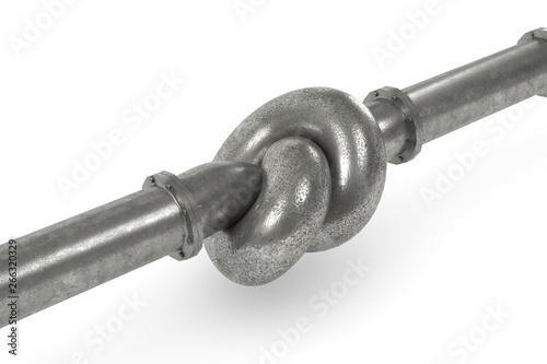 Fotografía 3D Illustration Knoten im Rohr