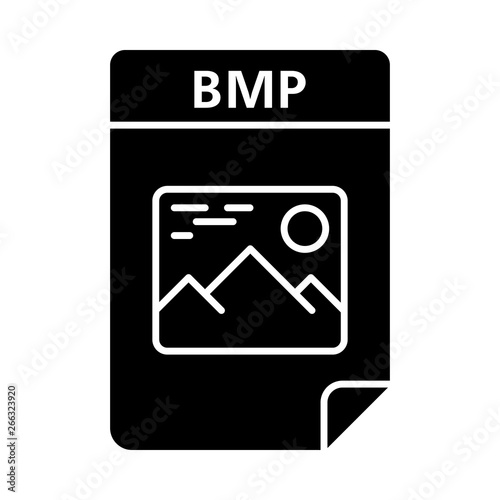 BMP file glyph icon Canvas-taulu
