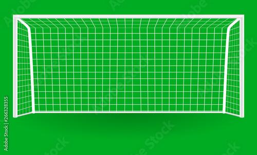Football goal with shadow isolated on a background Tapéta, Fotótapéta