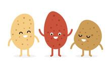 Funny Cartoon Cute Potato