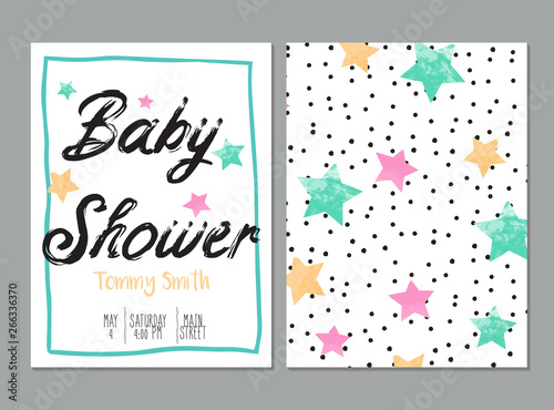 Poster de jardin Retro sign baby shower card