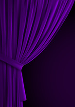Purple Curtain Background. Rea...