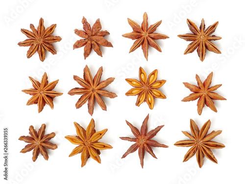 Fototapeta Various seasonings on white background  obraz