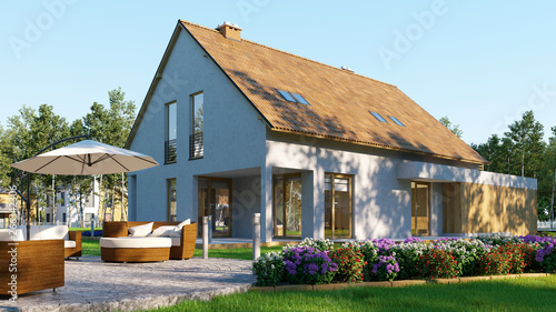 Cadres-photo bureau Individuel Gebäudeversicherung für Haus mit Garten