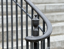Iron Finial And Handrail Volute,  Detail