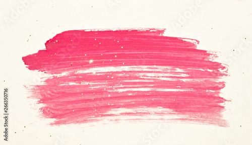 Fototapety, obrazy: Abstract pink watercolor splash and golden glitter in vintage nostalgic colors.