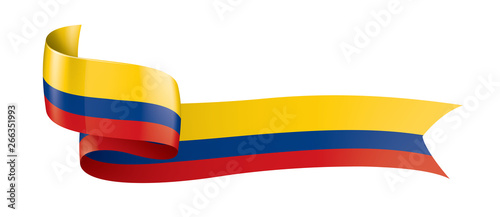 Fotomural  Colombia flag, vector illustration on a white background