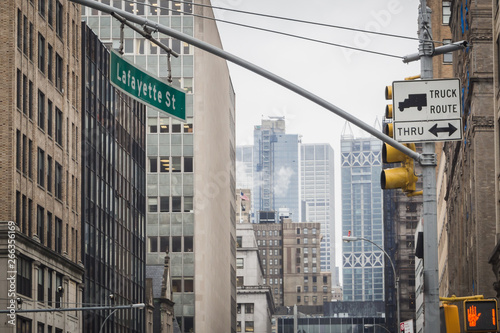 In de dag Berlijn Manhattan from Lafayette Street