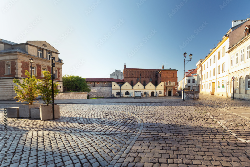 Fototapety, obrazy: Krakow. District of Kazimierz the market square of the old Jewish  quater