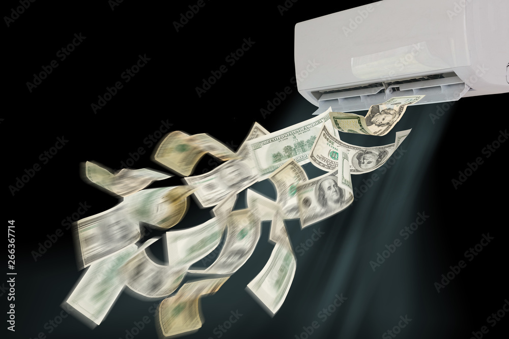 Fototapety, obrazy: air conditioning dollars banknotes