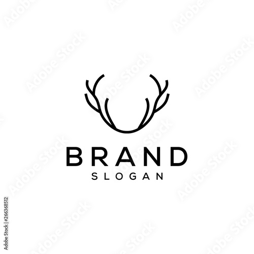 deer antler logo design Wall mural