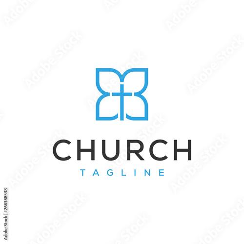 Fotomural church symbol logo design