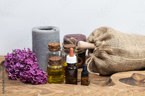 Spa and body treatment  Organic essential oils and ingredients for