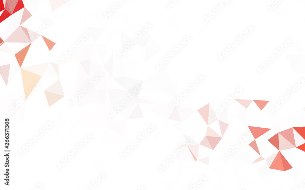 Fototapeta Light Red vector abstract polygonal template.