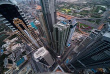 Top Down View Of Skyscrapers I...