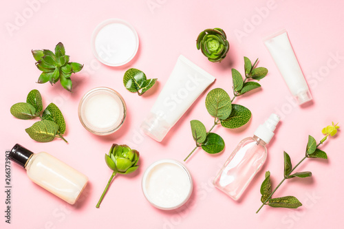 Printed kitchen splashbacks Amsterdam Skin care product, natural cosmetic flat lay.