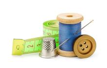 Thread, Needle, Button, Measur...