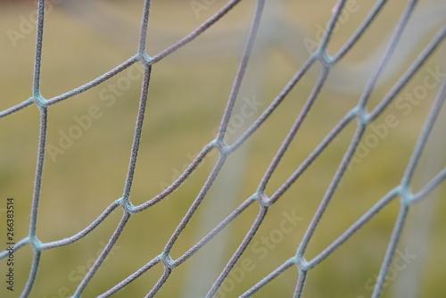 Montage in der Fensternische Darknightsky Soccer net play field detail