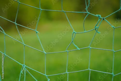 Montage in der Fensternische Darknightsky Background net mesh socer field