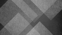 Abstract Black And White Background With Large Geometric Triangle And Diamond Pattern. Elegant Dark Gray Color With Textured Light Shapes And Angles In Modern Contemporary Design.