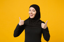 Smiling Young Arabian Muslim W...