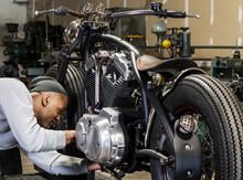 Motorcylce Shop Worker