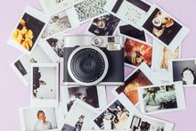 Polaroid Camera And Photos