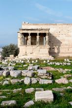 The Erechtheion On The Acropolis In Athens