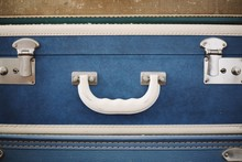Stacked Colorful Blue Suitcase