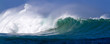 canvas print picture - Beautiful Ocean wave panorama in Hawaii